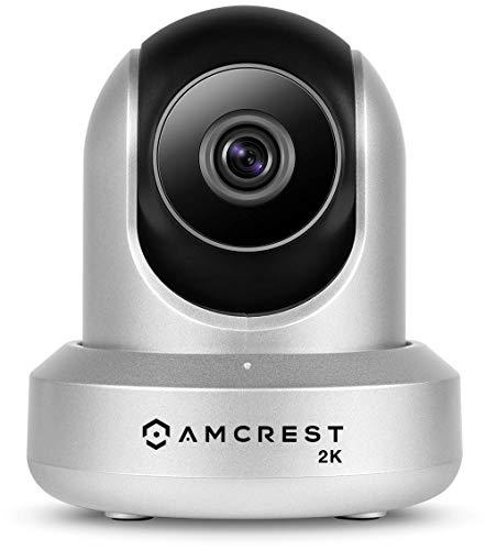Amcrest UltraHD 2K WiFi Camera 3MP Security Wireless IP Camera with Pan Tilt, Dual Band 5ghz 2.4ghz, Two-Way Audio, Wide 90 Viewing Angle and Night Vision IP3M-941S Silver Renewed
