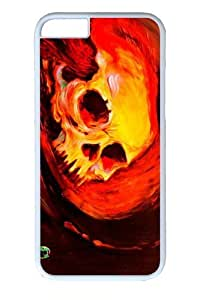 For SamSung Galaxy S4 Phone Case Cover -Volcanic Skull PC For SamSung Galaxy S4 Phone Case Cover White