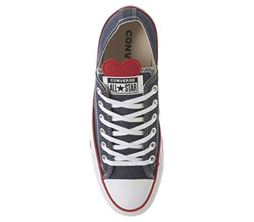 Red 000 Star Chuck indigo Para Zapatillas Mujer Azul All enamel Taylor Converse white qvwA7