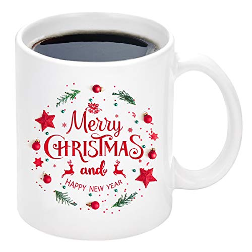 Christmas Coffee Mug with Merry Christmas and Happy New...