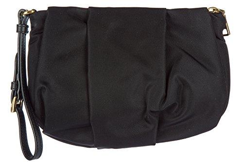 Prada pochette a mano donna in nylon nuova originale nero