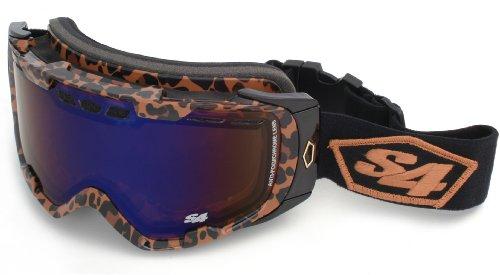 Amber Leopard (S4 Optics Alrt Goggle Snow Goggles (Leopard Print, Amber Blue Ice/Clear))