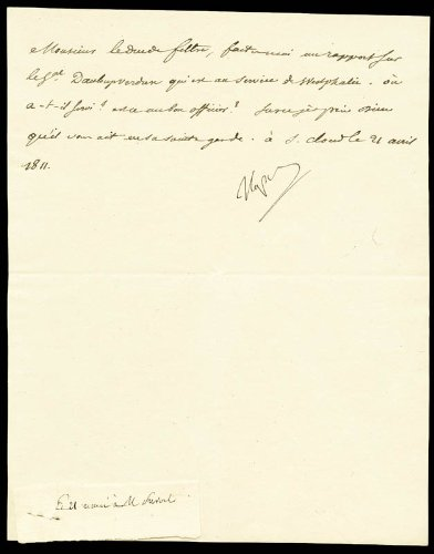 Emperor Napoleon Bonaparte Manuscript Letter Signed 04/21/1811