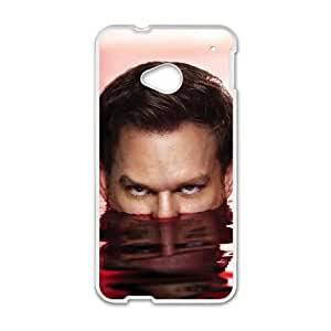 HTC One M7 Cell Phone Case White Dexter Blood Wkof
