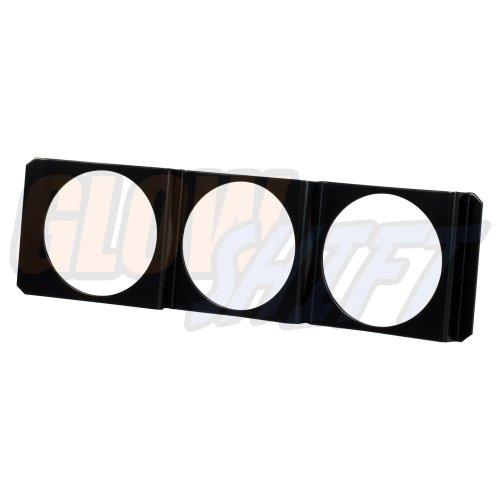 GlowShift Universal Triple Gauge Single Din Radio Face Pod