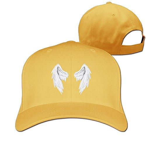HHNYL Unisex Baseball Cap White Wings Dad Hat Peaked Flat Trucker Hats