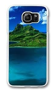 Beautiful Green Island Custom Samsung Galaxy S6/Samsung S6 Case Cover Polycarbonate Transparent