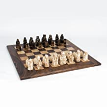 WE Games Isle of Lewis Antiquity Chess Set -23 inches