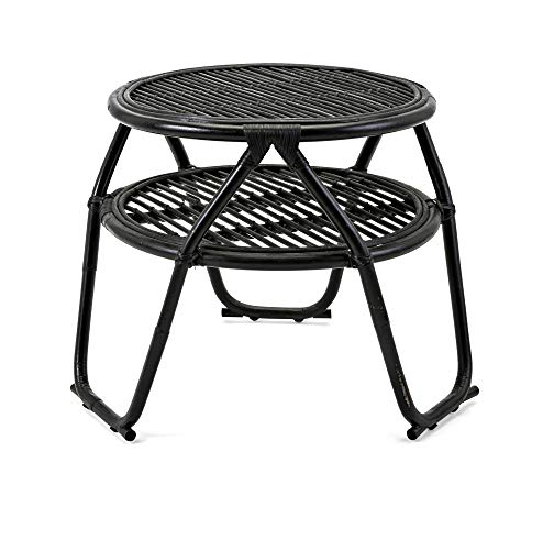 Imax 60238 Raffia Rattan Occasional Tables Brown