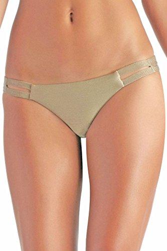 Vitamin A Women's California Tab Side Hipster Bikini Bottom Bronze Metallic 6 by Vitamin A