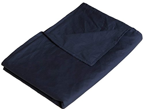 YnM Cotton Duvet Cover for Weighted Blankets (60x80) - Navy Print