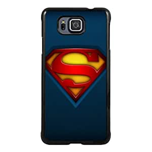Samsung Galaxy Alpha Case ,Hot Sale And Popular Designed Samsung Galaxy Alpha Case With Fabric-Superman-Logo Black Hight Quality Cover