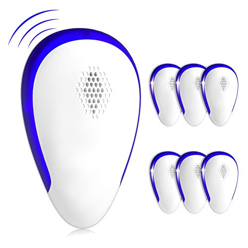 Nuaer1 Ultrasonic Pest Repeller 6 Pack Electronic Repellant Ultrasound Pest Control Bug Repellent for Spiders…