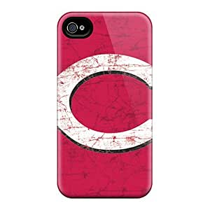 iPhone 5 5s PRZ6797FpVm Allow Personal Design Realistic Cincinnati Reds Skin Excellent Cell-phone Hard Cover -JamieBratt