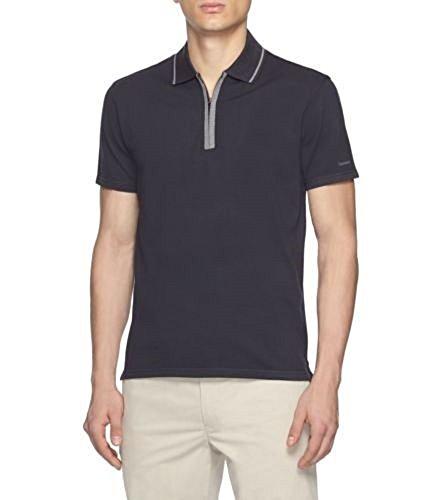 zegna-sport-mens-navy-blue-pique-cotton-half-zip-polo-t-shirt-m