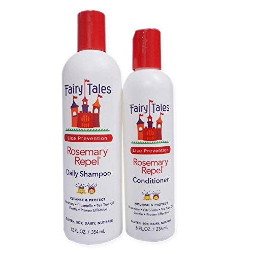 - Fairy Tales Rosemary Repel Daily Kid Shampoo (12 oz) & Conditioner (8 oz) Duo for Lice Prevention