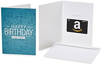 Amazon.com $10 Gift Card in a Greeting Card (Birthday Icons Design)