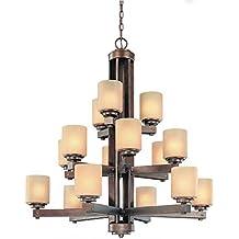 Dolan Designs 2703-90 Sherwood 15 Light 3 Tier Chandelier, Sienna
