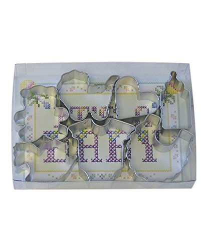 R&M International 1816 Mini Baby Cookie Cutters, Assorted, 7-Piece -