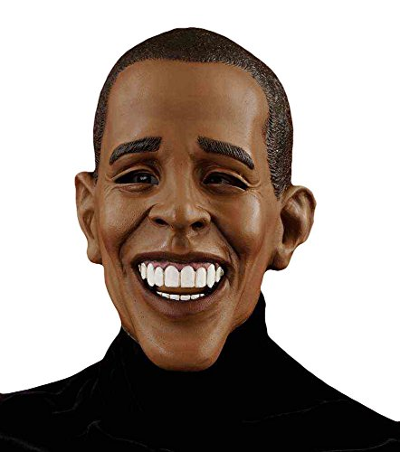 Forum Novelties Men's Barack Obama Deluxe Latex Mask, Brown, One Size]()