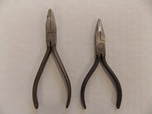 Camron Tools 2 Piece Pliers: Needle Nose and Needle Nose Wire Work Pliers, Made in USA, Part #1111