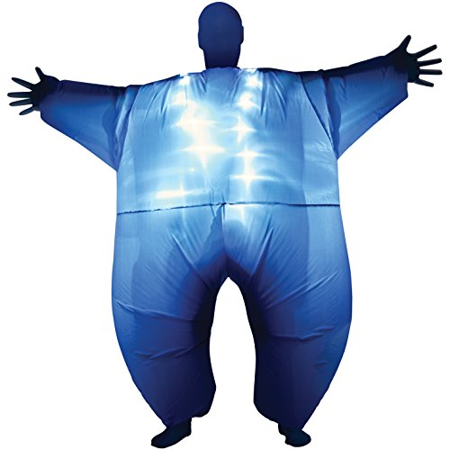 Blue Light-Up Inflatable Megamorph Blow Up Costume - One Size fits Most