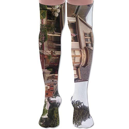 LKJH Victorian House Unisex Socks Premium Soft Fancy Design Multi Colorful Patterned for Women Men