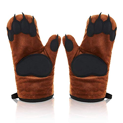 ARTISTRY WORLD Bear Hand Oven Mitts Heat Resistant Glove For BBQ Oven Kitchen Cooking,Everyday Cooking Gloves