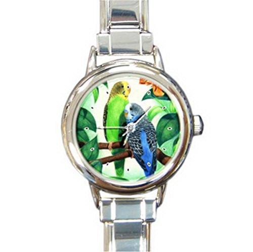 DIB158Romantic love birds Italian charm wrist (Bird Italian Charm Watch)