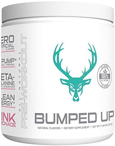 BUMPED UP – Pregnancy Safe Pre Workout – 100 All Natural Pink Lemonade Prenatal Postnatal Safe, Naturally Occurring Ingredients Pure Clean – Supplement Powder 30 Servings