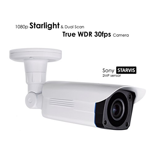 (AED 1080P EX-SDI/HD-SDI/TVI SONY STARLIGHT CMOS TRUE WDR 30fps WITH DUAL SCAN, 4 in 1 SMD IR BULLET CAMERA WITH 3MP MOTORIZED AF 2.8MM~12MM PREMIUM LENS AND TINTED GLASS)