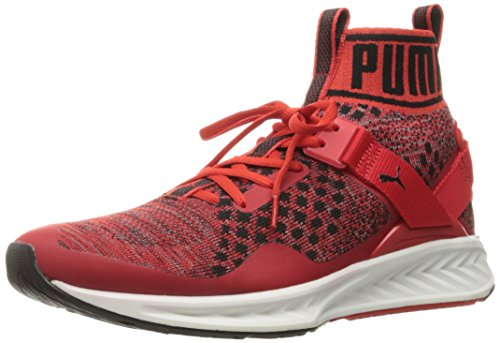 (PUMA Men's Ignite Evoknit Cross-Trainer Shoe, High Risk Red/Quiet Shade Black, 12 M US)