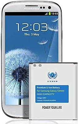 LTZGO batería Compatible con Samsung Galaxy S3 Mini 1700mAh Reemplazo de Batería Interna Corresponde a la batería EB-F1M7FLU del Galaxy S3 Mini GT-i8190N GT-i820N sin NFC: Amazon.es: Electrónica
