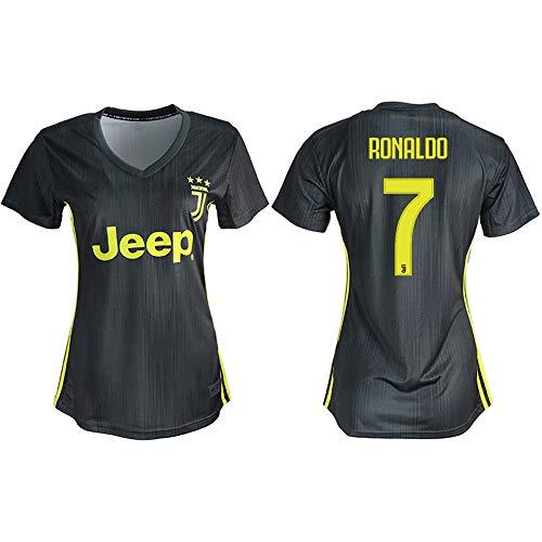 064af44fa85 FLYlzx 2018 19 Juventus Ronaldo  7 Women s Away Soccer Jersey (M(160-165CM))