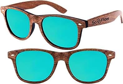 Amazon.com: SoFlow Blue Walnut Polarized Wood Sunglasses
