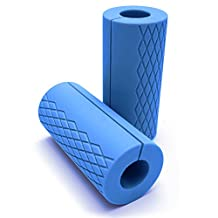 Fat Grip,OBOSOE Durable Non-slip Silicone Rubber Arm Builder?Easily Attachable To Dumbbell&Barbell Grips for Muscle Growth and Strength(Blue)