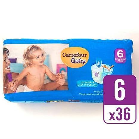 Carrefour bebé Ultra Dry Pull On tamaño 6 esencial Pack de 36 por ...