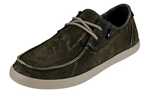 Sanuk Mens Nu-Nami Sneaker Washed Navy Size 11
