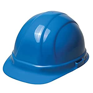 ERB 19506 Omega II Full Brim Hard Hat with Slide Lock, Blue