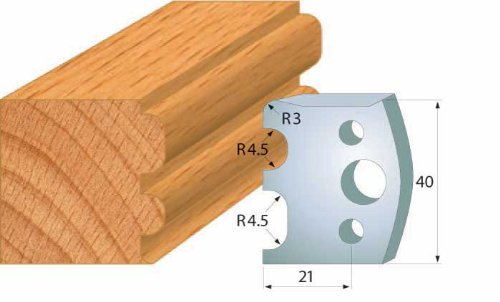 CMT 690.007 Profiled Knives for Shaper Cutters, 1-37/64-Inch Cutting Length, 5/32-Inch Thickness - 2-Pack