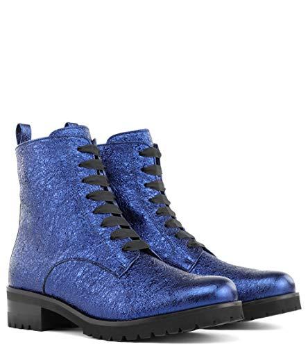 Zapatos Punta Tacón Peter Mujer De Kaiser Azul Con Cerrada 1Uw55BxqC