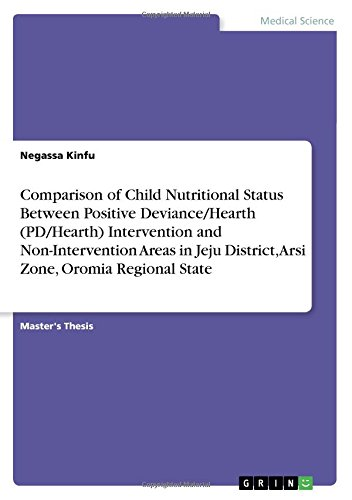 Comparison of Child Nutritional Status Between Positive Deviance/Hearth (PD/Hearth) Intervention and Non-Intervention Areas in Jeju District, Arsi Zone, Oromia Regional State