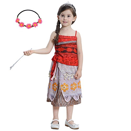 Girls Princess Two Pieces Outfit Cosplay Costume Halloween Birthday Party Fancy Dress Up (Halloween Costumes For Two Kids)
