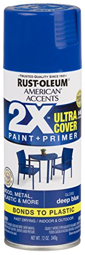 Deep Paint - Rust-Oleum 327878-6 PK American Accents Spray Paint, Gloss Deep Blue