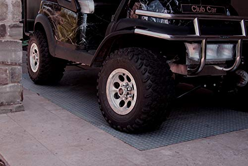 RoughTex Diamond Deck 85724 Pewter Textured Roll Out Garage Floor Mat, Various Sizes Available by Diamond Deck (Image #5)