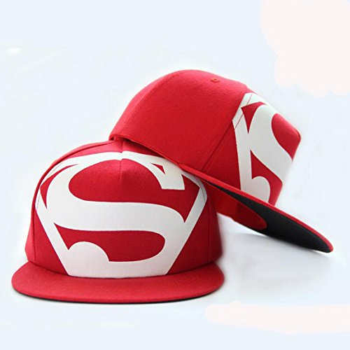 Blazers Proforms Costumes Fashion trend Men's Snapback adjustable Unisex Baseball Cap Hip Hop hat - White S Super Man of Steel Red (Superman Costumes Australia)
