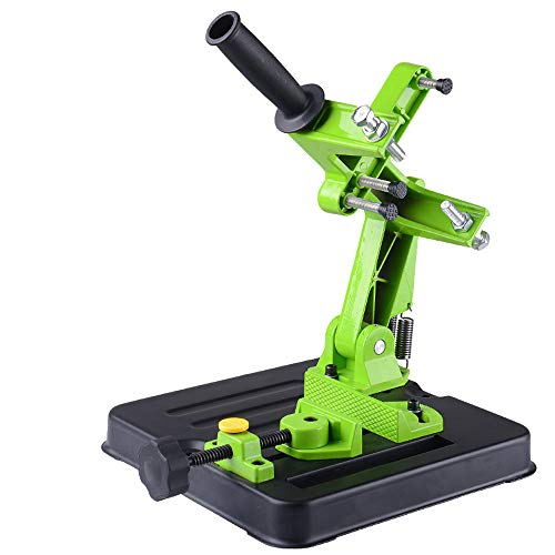 Angle Grinder Stand, KKmoon Multifunctional Metalworking Power Tool Accessories DIY Aluminum Bracket Iron Base Angle Grinder Holder Support For Cutting Machine Angle Grinder Stand BG-6180 ()