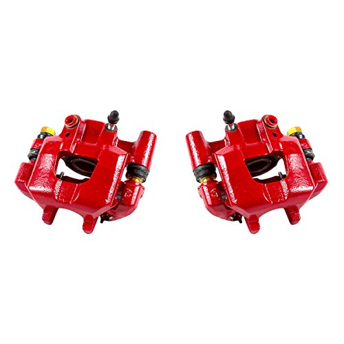 CK00954 [ 2 ] REAR Performance Grade Red Powder Coated Semi-Loaded Caliper Assembly Pair Set
