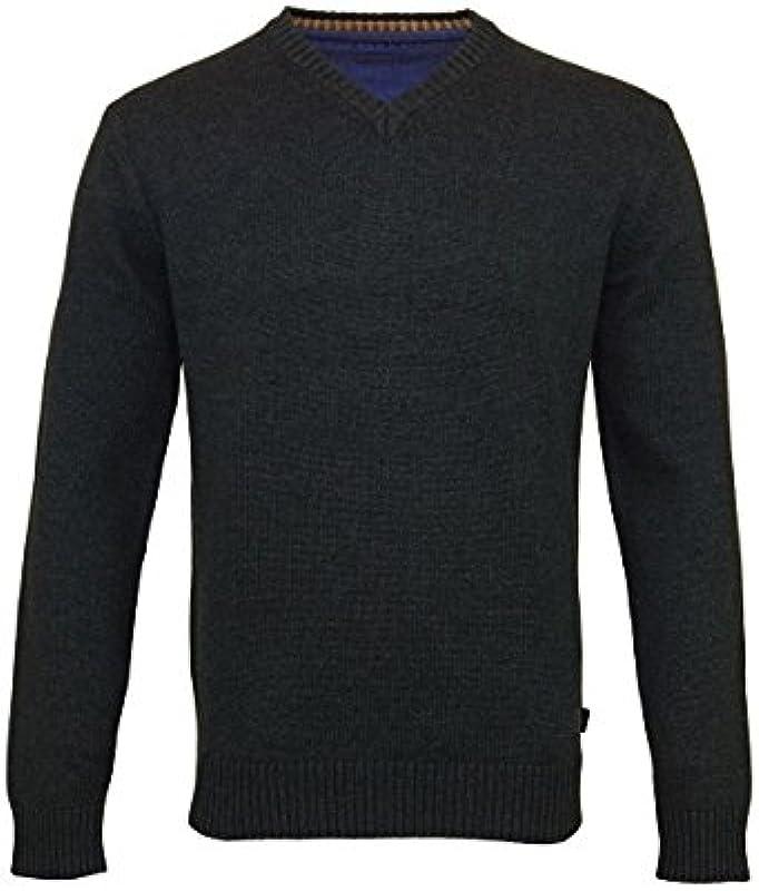 kitaro sweter sweter dziany wycięcie w kształcie V 69301 5101 antracyt melanż sh17-ktsp1: Odzież