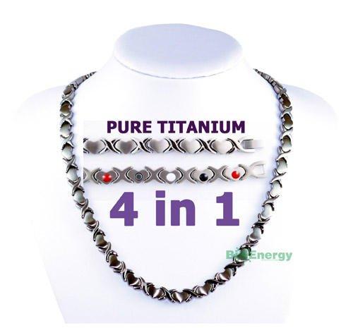 Pure Titanium Germanium Magnets Necklace Power Energy Bio Balance 4in1 Halskette 294 by BioEnergy International